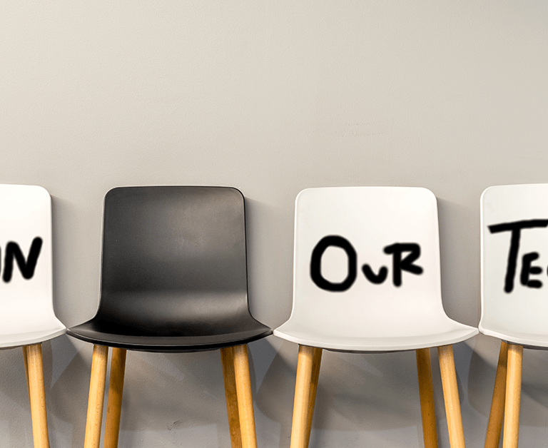workplace join our team logo in chairs.