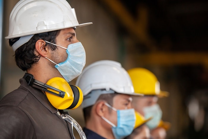 workers wearing mask